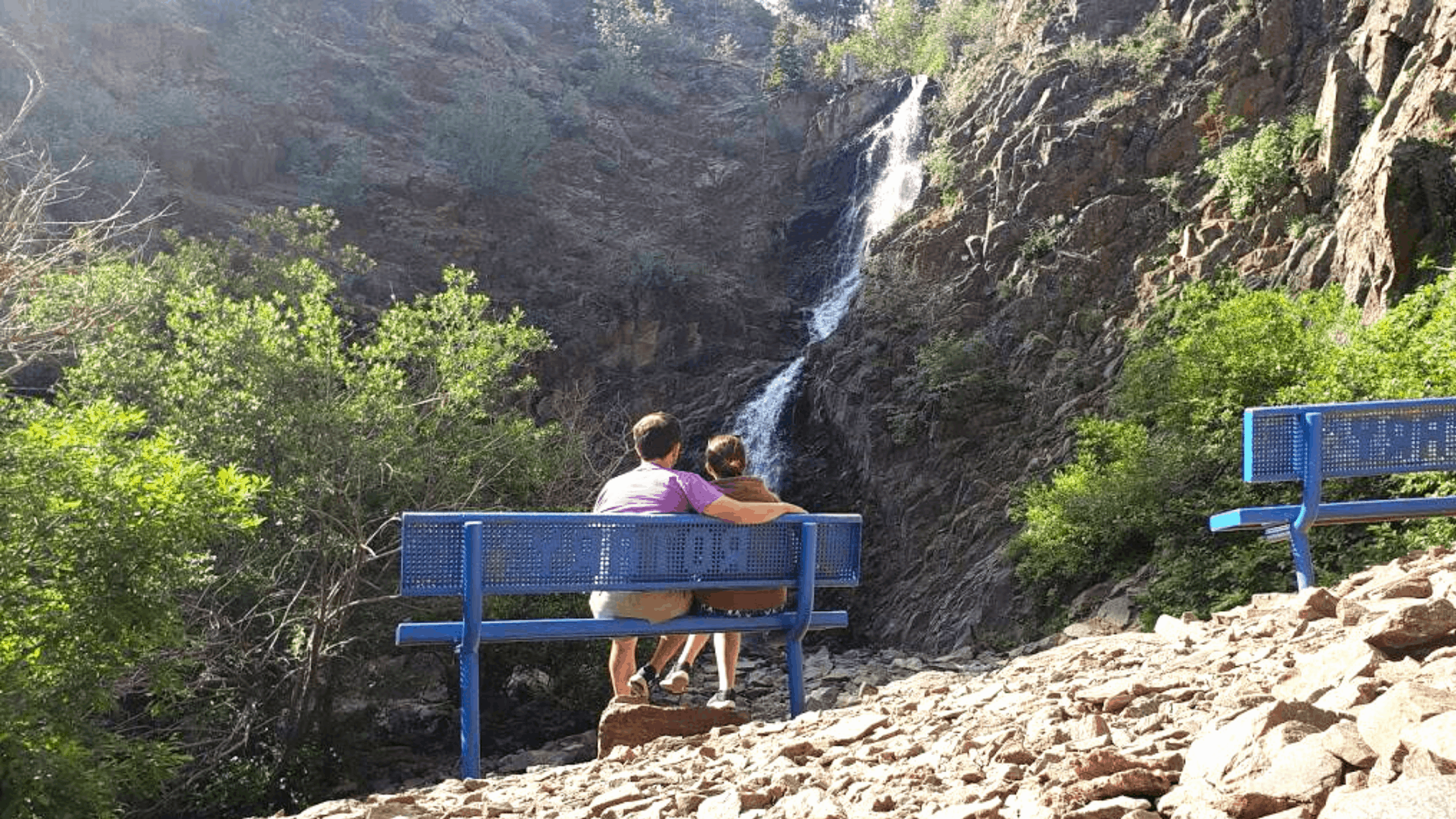Having a Picnic lunch beneath The Garden Creek Falls is perhaps the most romantic thing to do in Casper, Wyoming