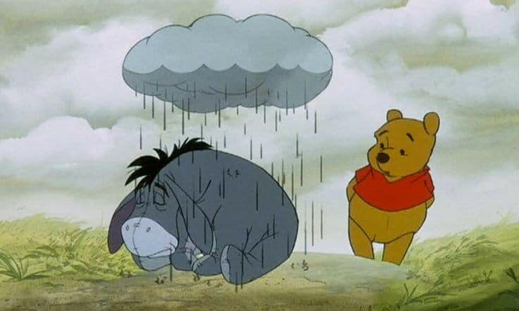 Eric Gamble feels like Eeyore with a raincloud overhead because he hasnt ever seen the northern lights