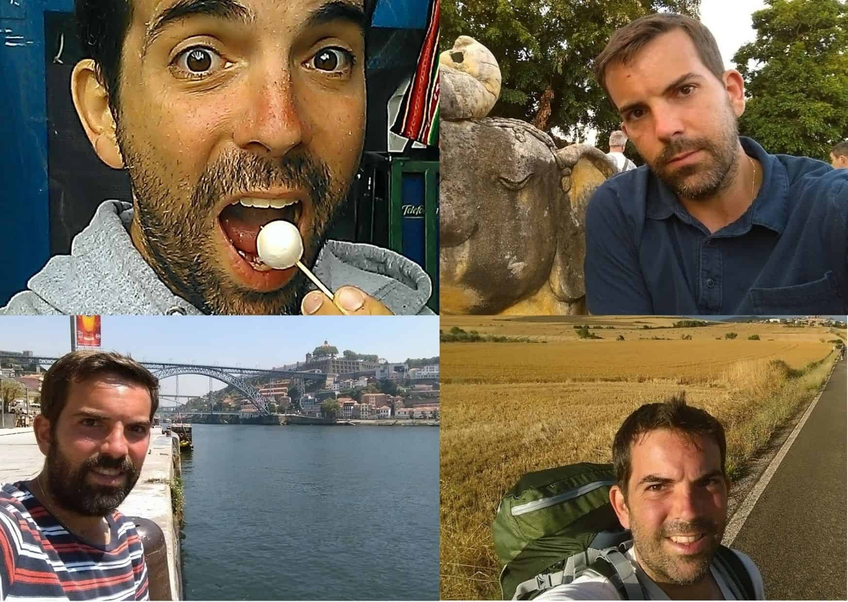 For pictures of Eric Gamble traveling around the world but failing to put on sunscreen on his face