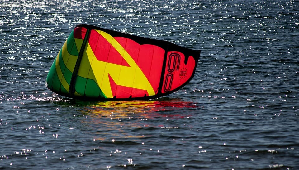 Picture of Eric Gamble failing at Kiteboarding in Tobago